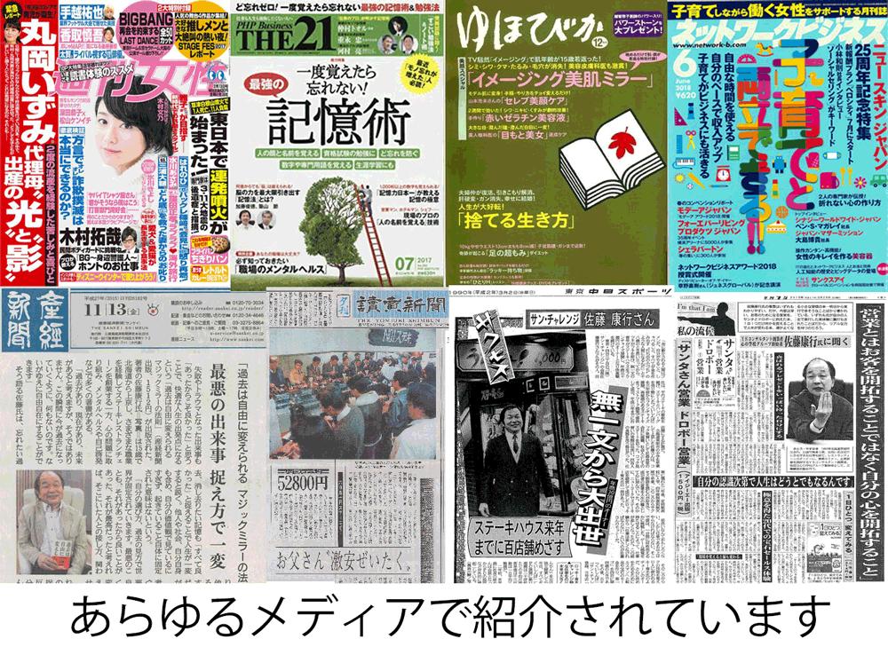 佐藤康行 雑誌・メディア掲載実績